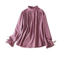 Blusas Mujer De Moda 2020 Verano Elegantes Stand Collar Womens Tops and Blouses Long Sleeve Shirt Women Blusa Feminina