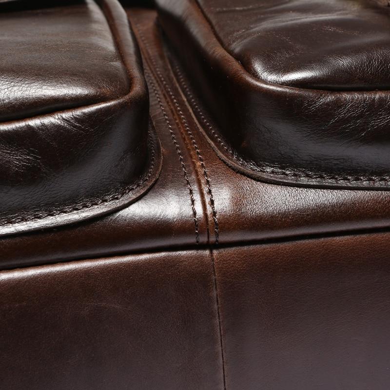 MVA Business porte-documents sacs hommes en cuir véritable sac pour Document 14 pochette d'ordinateur porte-documents en cuir sacs de bureau pour hommes 8001 - 4
