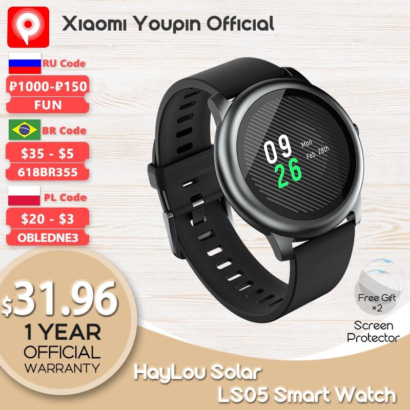 YouPin hay485 Solar LS05 Smart Watch Sport cardiofrequenzimetro monitoraggio del sonno IP68 impermeabile iOS Android versione globale smartwatch 1