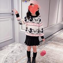 Детский Зимний пуловер из меха норки с изображением Микки