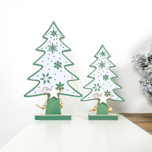 1pcs Creative Christmas Small Hollow DIY Wooden Ornaments For Home Party Ornament Decorations Kids Gift Supplies