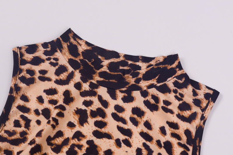 Sexy Leopard Print Cold Shoulder Bodycon Dress Women Autumn Retro Long Sleeve Short Mini Dress Slim Party Cocktail Club Dresses in Dresses from Women 39 s Clothing