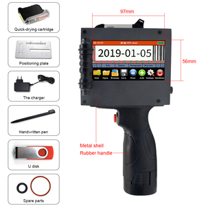 Image 2 - شاشة تعمل باللمس المحمولة طابعة محمولة صغيرة النافثة للحبر تسمية آلة الطباعة الذكية USB رمز الاستجابة السريعة النافثة للحبر تسمية الطابعة 2 50.8 مللي متر