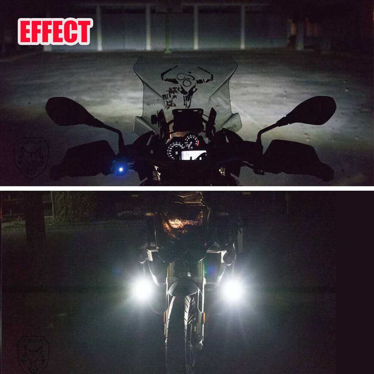 cheapest Pair Motorcycle LED Spot Light Fog Lamps Auxiliary Fog Light Driving Lamp 3rd Gen For BMW R1200GS F800GS
