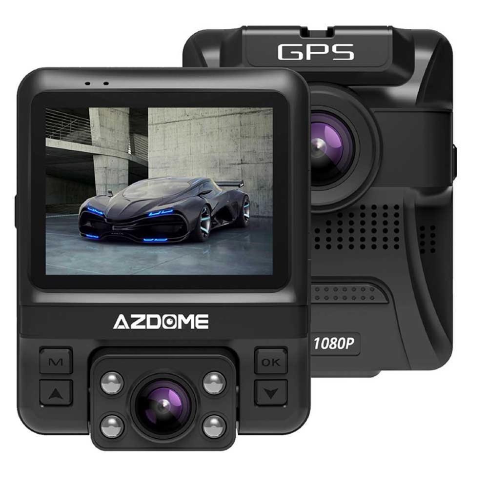 AZDOME Video-Recorder Car-Dvr Dash-Cam Dual-Lens Night-Vision Rear Full-Hd 720P 1080P