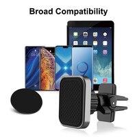 XMXCZKJ-soporte magnético Universal para Coche magnético de ventilación, bloqueo giratorio, para teléfonos móviles y Mini tabletas