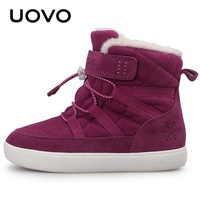 Uovo New Kids Snow Boots 2019 Winter Warm Boys And Girls Shoes Fashion Children Thicken Plush Boots Size 29 30 31 32 33 34 35 36