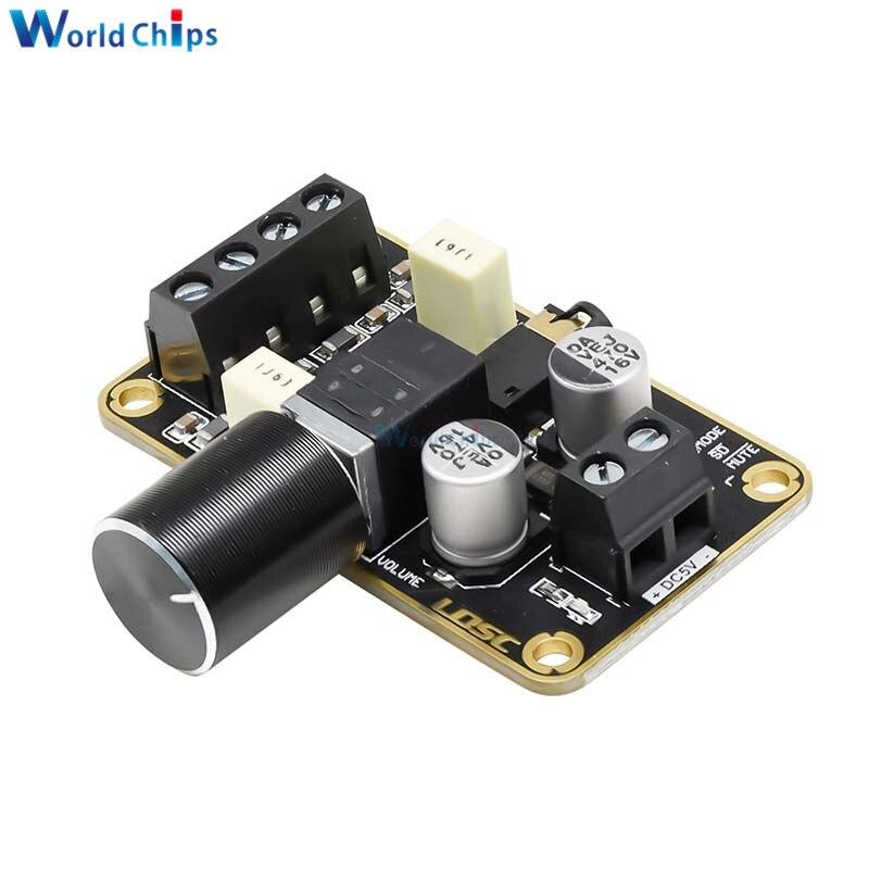 Pam8406 5w + 5w placa de amplificador áudio duplo ch 5v classe d amplificador de potência estéreo digital com controle de volume 3.5mm aux jack