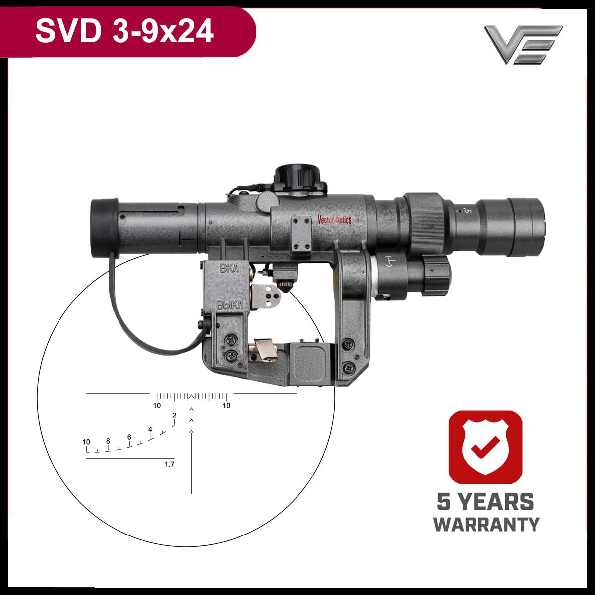 Tactical Dragunov 3-9x 24mm SVD Tactical Military FFP RifleScope Fit AK47 AK74 Shockproof Waterproof Brand New Gunsight Scope