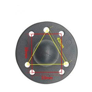 Image 4 - قاعدة مستديرة من الألومنيوم 1 بوصة تحميل كروي مع نمط ثقب أمبير لكاميرات العمل لتحديد المواقع الهاتف الذكي