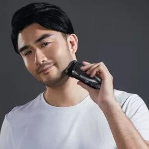 Image 3 - Xiaomi PINJING elektrikli traş makinesi tıraş kablosuz 3D akıllı jilet tıraş makinesi USB şarj IPX7 su geçirmez 3 kafa LED ekran erkekler için ES3