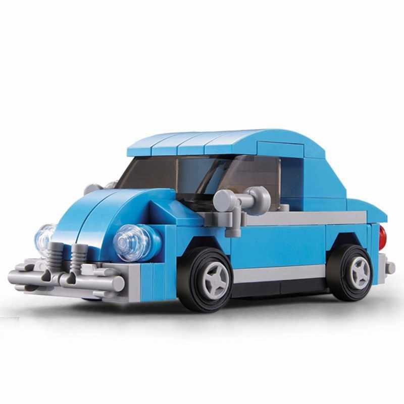 Decool técnica cidade criador mini smart beetle t1 camper van figura blocos de construção tijolos brinquedos para crianças compatível lepin