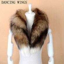 Мужской женский шарф из натурального Лисьего меха настоящий натуральный Лисий меховой воротник-шарф Обертывания хорошее качество мех кольцо глушитель