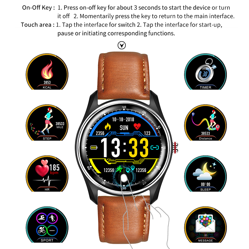Image 5 - LYKRY MX9 ECG PPG Smart Watch Blood Pressure Heart Rate Monitor Multi languages Life Waterproof Smartwatch For Men Women-in Smart Watches from Consumer Electronics