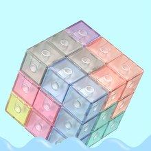 Puzzle Building Blocks Magnetic Cube Magic Building Blocks Soma Cube Magnet 3x3 Children's Educational Toys  Cube Boy Toys