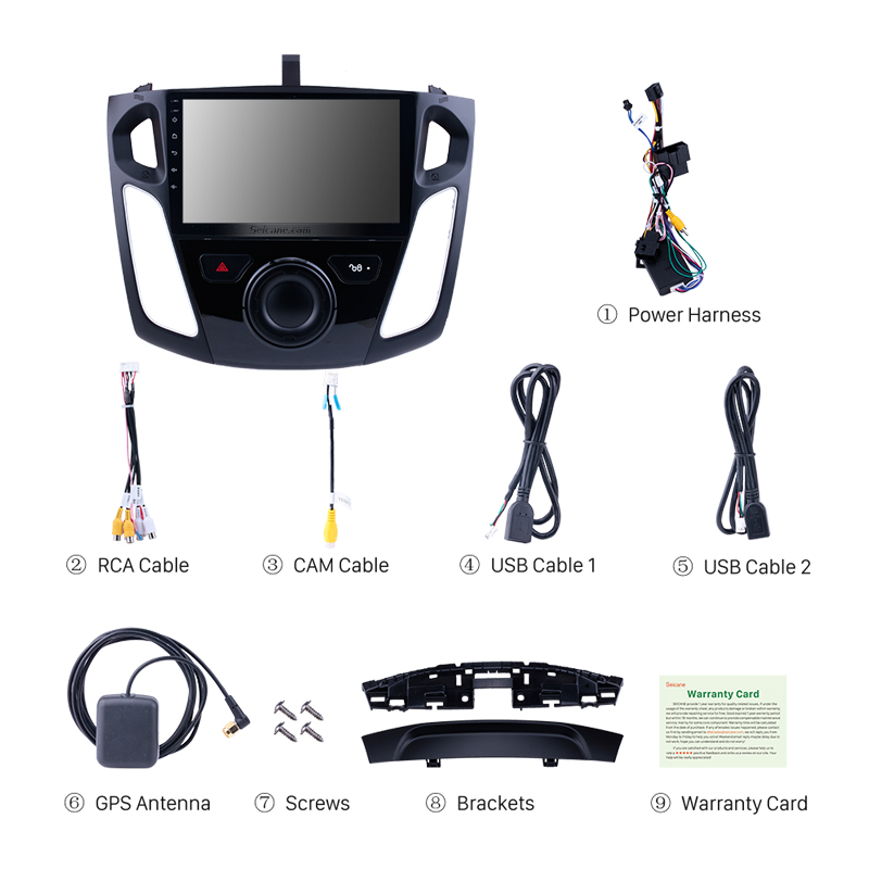 Clearance Seicane Android 9.0 9 Inch Car Stereo For 2011