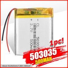 Batterie polymère 500 mah 3.7 V 503035, Li-ion, pour haut-parleurs de maison intelligente, dvd,GPS,mp3,mp4,E-book, casque, Bluetooth
