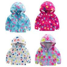 Kids Spring Jacket Girls Boys Hooded Outerwear Windbreaker Coat Children Clothes Waterproof Raincoat Autumn Baby Girl