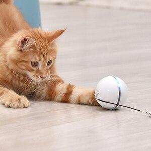 Зарядка через USB интеллигентая (ый) интерактивная игрушка для кошек самостоятельно вращающийся шар автоматический вращающийся шарик перо игрушка светодиодный/колокол встроенный кошачья мята|Игрушки для кошек|   | АлиЭкспресс