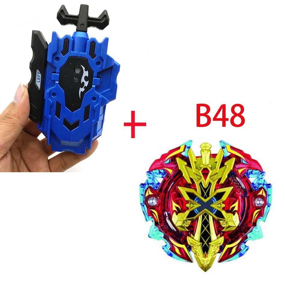 Волчок Beyblade BURST B-130 B-117 с пусковым устройством Bayblade Bay blade металл пластик Fusion 4D Подарочные игрушки для детей - Цвет: B48