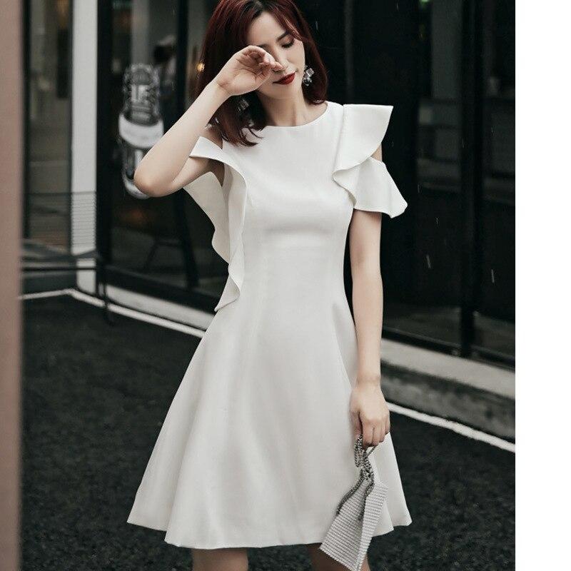 Vestidos Para Bautizo Gengli French Small Dress Female 2020 New Harvest Show Thin Fashion Temperament Socialite Little Waist