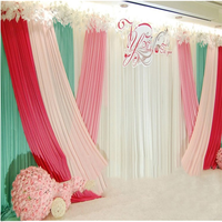 Tricolor Ice Silk Cloth Background Curtain Party Supplies Stage Birthday Hotel Wedding Background Veils Decoration