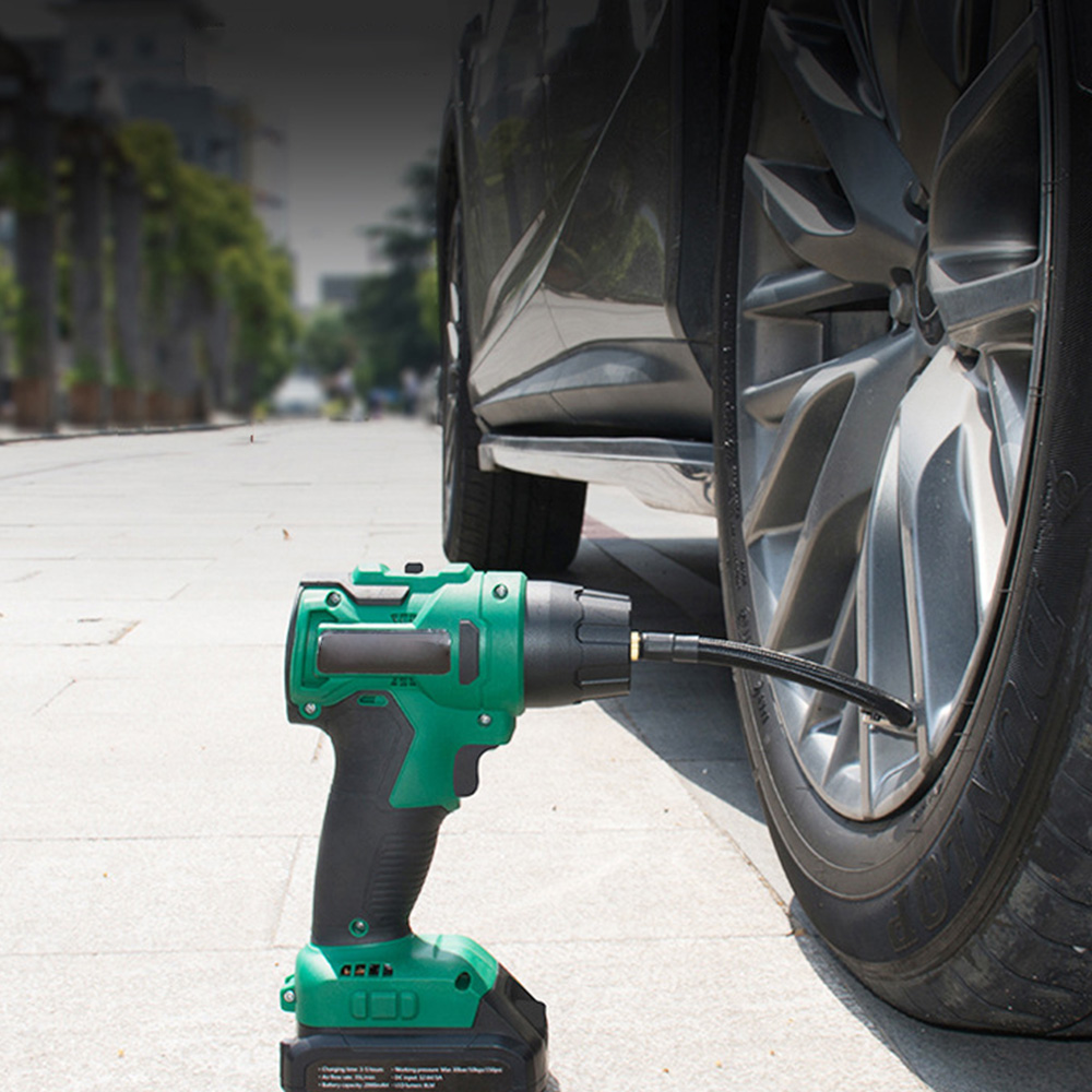 120W Car Inflatable Pump LED Digital Wireless Car Air Pump USB 12.6V Charging Handheld Tire Electric Car Air Compressor Pump