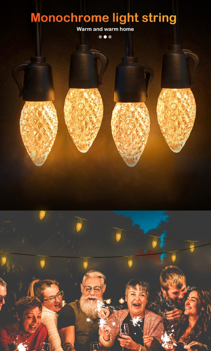 C35 led string lights 15m 20 25