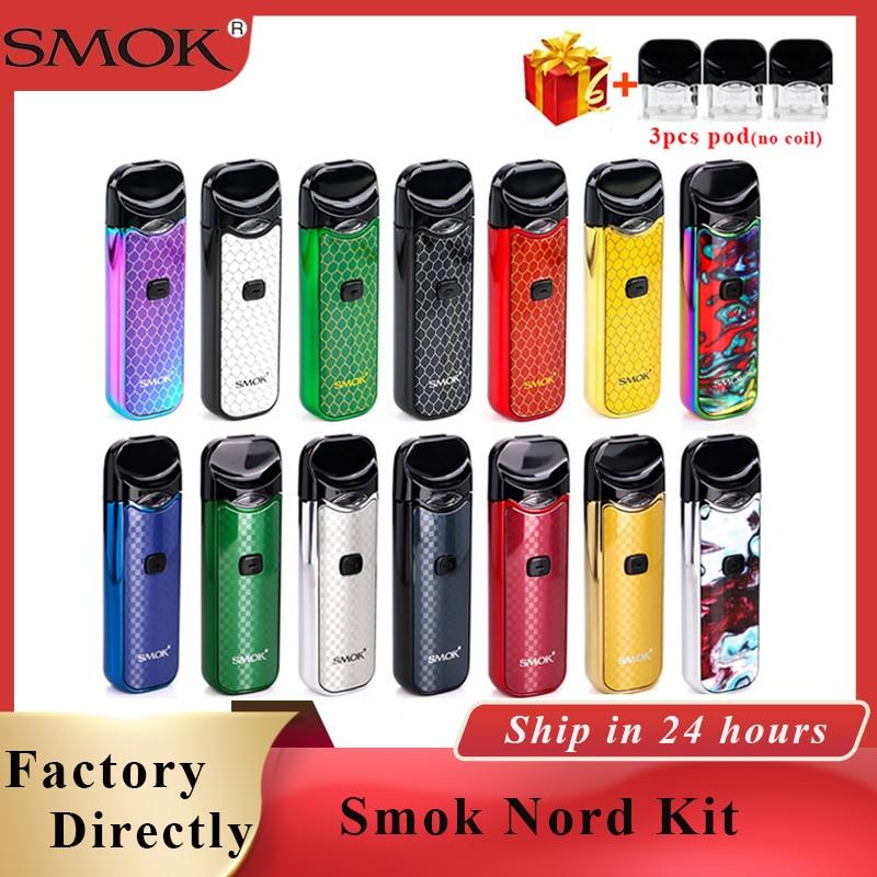 Nord Nord Pod pod Smok Kit 1100mAh Vape & 3ML Pod pod Do Cartucho Do Cigarro Eletrônico kit caneta vape vs Smok Novo kit vapor