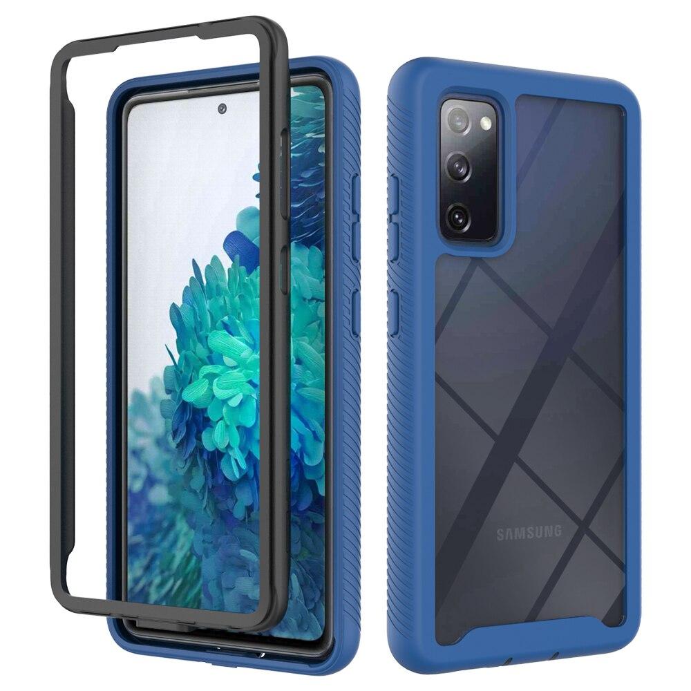 Ударопрочный чехол для телефона Samsung Galaxy S20 FE Note 20 Ultra S10 Plus S10E гибридный защитный бампер из ТПУ Жесткий прозрачный чехол
