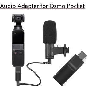 Image 1 - يدعم الخارجية 3.5 مللي متر ميكروفون محول الصوت الموقت الذاتي سجل محول فيديو لل DJI oomo جيب 2 تمديد الملحقات