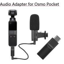 Supporta Esterno 3.5 MILLIMETRI Adattatore Audio del Microfono Self timer Registrare Video Adattatore per DJI Osmo Tasca 2 Accessori di Estensione