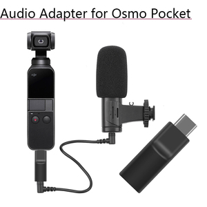 Image 1 - Supports External 3.5 MM Microphone Audio Adapter Self timer Record Video Adapter for DJI Osmo Pocket 2 Extension Accessories
