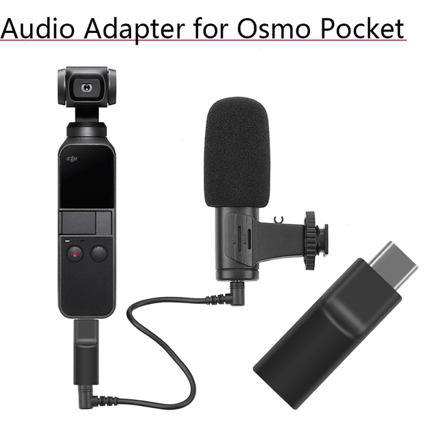 Supports External 3.5 MM Microphone Audio Adapter Self timer Record Video Adapter for DJI Osmo Pocket 2 Extension Accessories