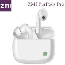 2021 zmi purpods pro 1st do mundo bluetooth 5.2 verdadeiro fones de ouvido sem fio anc 3mic anti ruído à prova dwaterproof água no ouvido