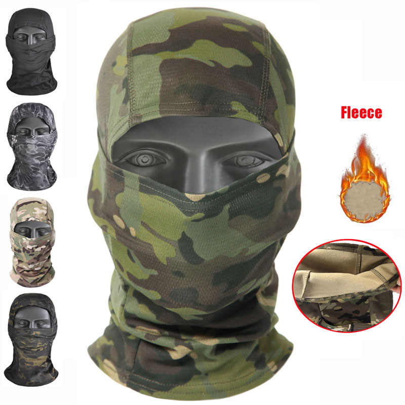 Tactical Military Balaclava Face Mask Paintball Airsoft Neck Warmer Headgear US
