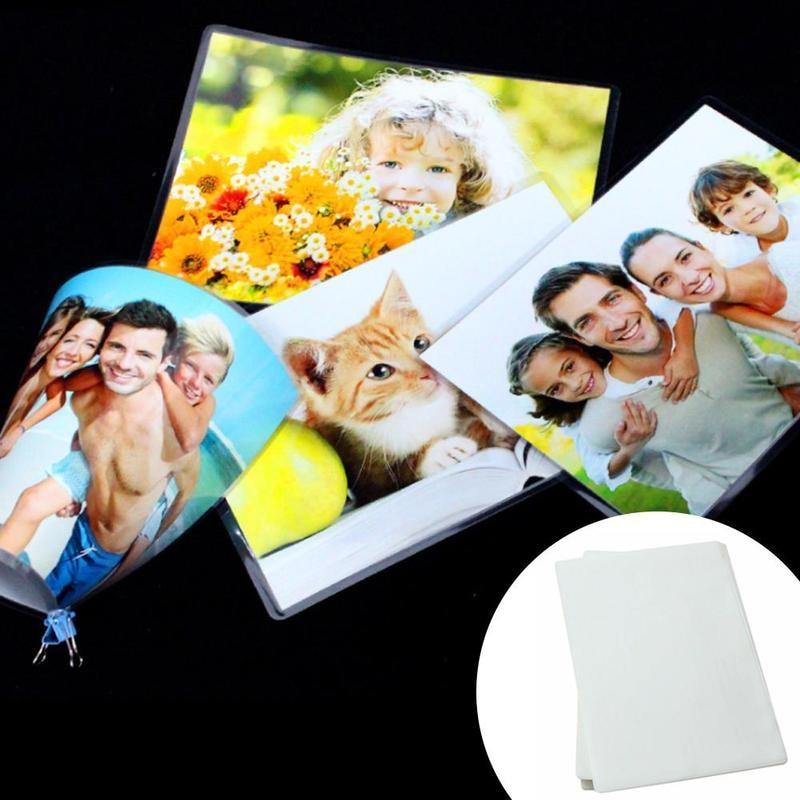 100pcs/pack A4 Plastic Film 5c/6c/7c/8c Thermal Laminate Plastic Film Film For Photo/document/picture/card Film Laminate R1B7