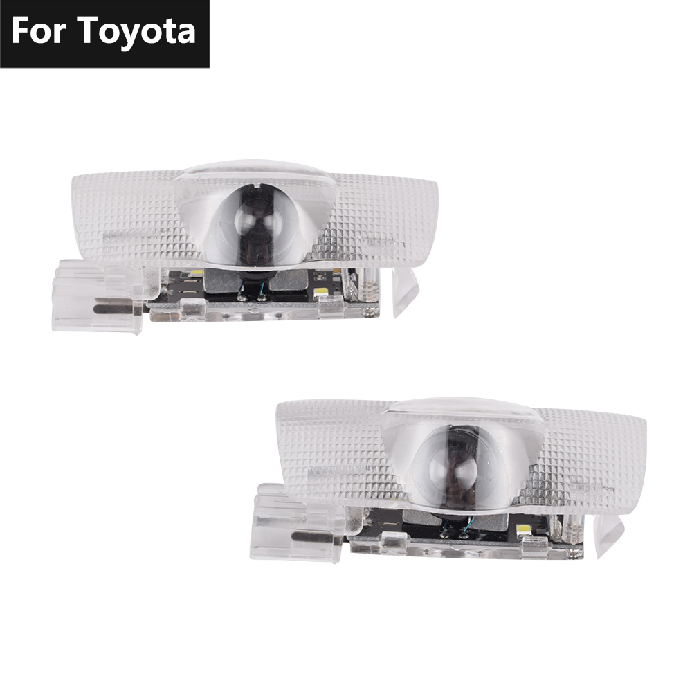 Car Logo LED Door Light Laser Projector Lamp For Toyota Land Cruiser LC200 200 Prado LC150 150 Prius Reiz Sequoia Sienna Tundra