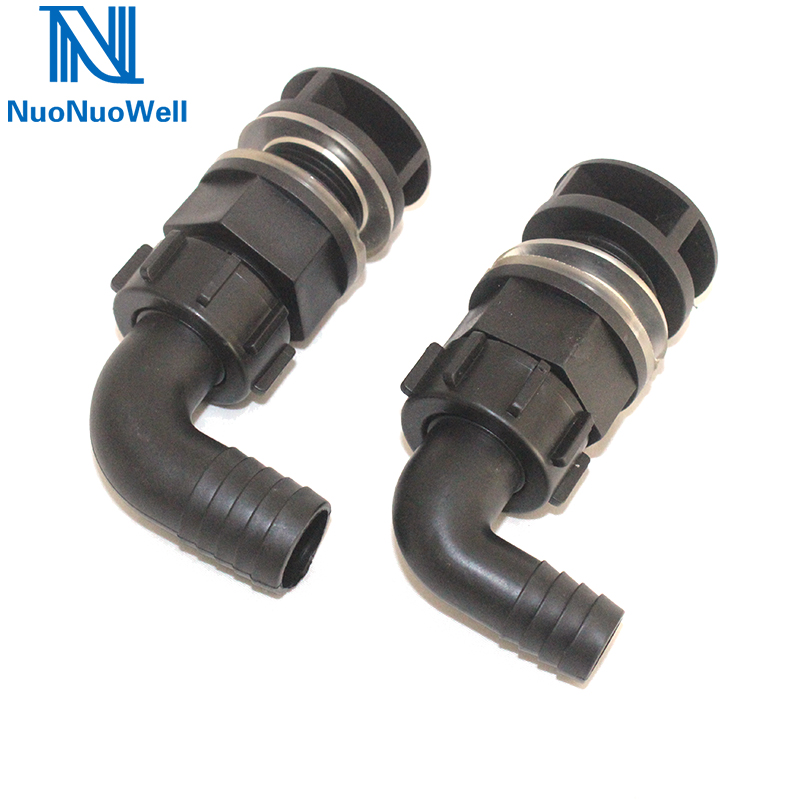 NuoNuoWell Aquarium Elbow Bulkhead Connector 20mm/25mm Buckets Bottom Outlet Pipe Fish Tank Pond Drain Fitting