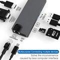 8 в 1 Многофункциональный Тип C адаптер концентратор Тип C к HDMI концентратор USB VGA для ноутбука