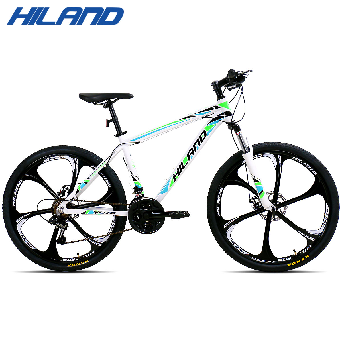 HILAND 26 Mountain Bike 21/27 Speed Aluminum Bicycle Double Disc Brake MTB Suspension Fork with Shimano TZ50