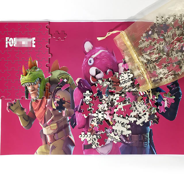 Fortniteing Game Puzzles Toys 300 Pieces Anime Figures Assembling Puzzle Children Educational Puzzles Toys for Boys Girls Gifts 6