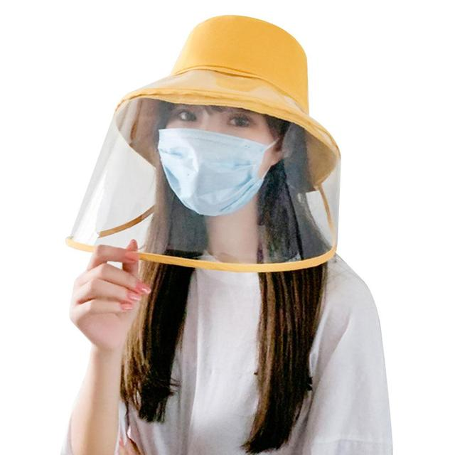 Protection Hat Hat with Face Shield Safety Anti-Saliva Anti-Fog PU Transparent Removable Lightweight Comfortable Breathable 1