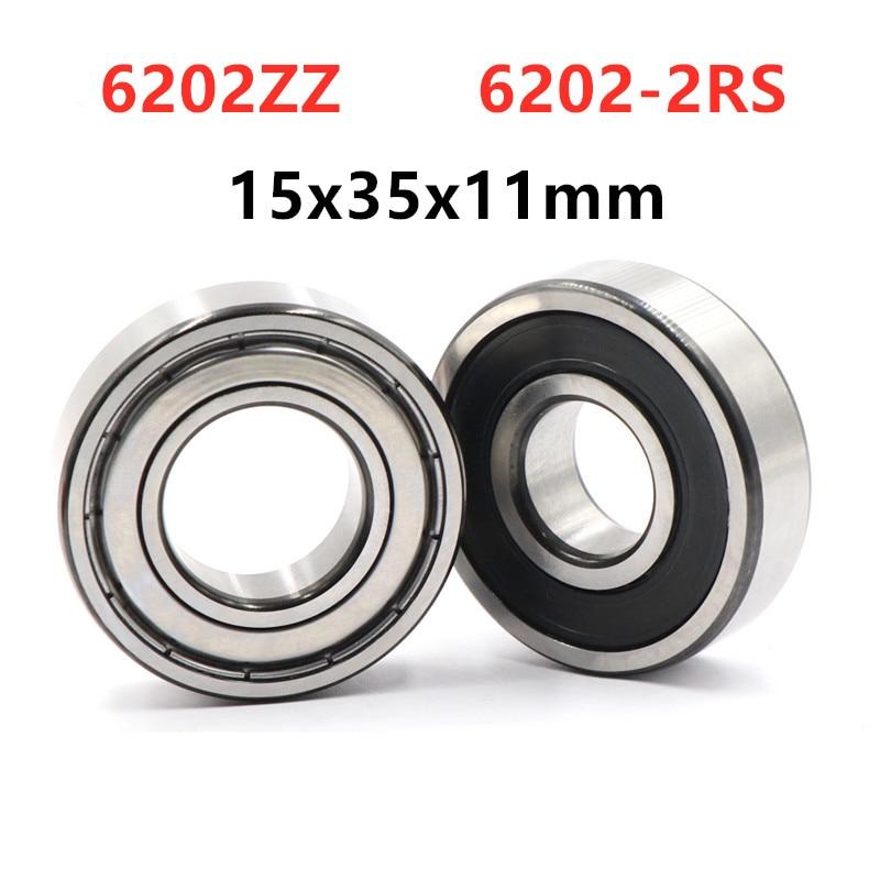 20pcs/lot 6202ZZ 6202 2RS  shielded  deep groove ball bearing 15*35*11 mm  6202  2Z 6202RS  bearings 15x35x11|Bearings| |  - title=