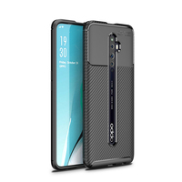 style protective For OPPO Reno2 F Case Business Style Silicone Rubber Shell Back Phone Cover For OPPO Reno 2 F Protective Case For OPPO Reno 2F (2)