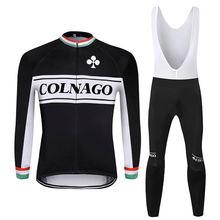 2019 colnago Winter Thermal Fleece Cycling Suit Warm Jacket Bike Sets Cycle Jersey Suit Ropa Ciclismo Mtb Clothing Bib Pants Set santic cycling jersey sets men 2018 autumn winter road bike cycling clothing fleece keep warm bicycle jacket ropa ciclismo