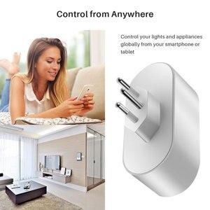 Image 4 - Enchufe inteligente WiFi, toma de corriente estándar de Brasil con monitoreo de energía, Compatible con asistente de Google Alexa