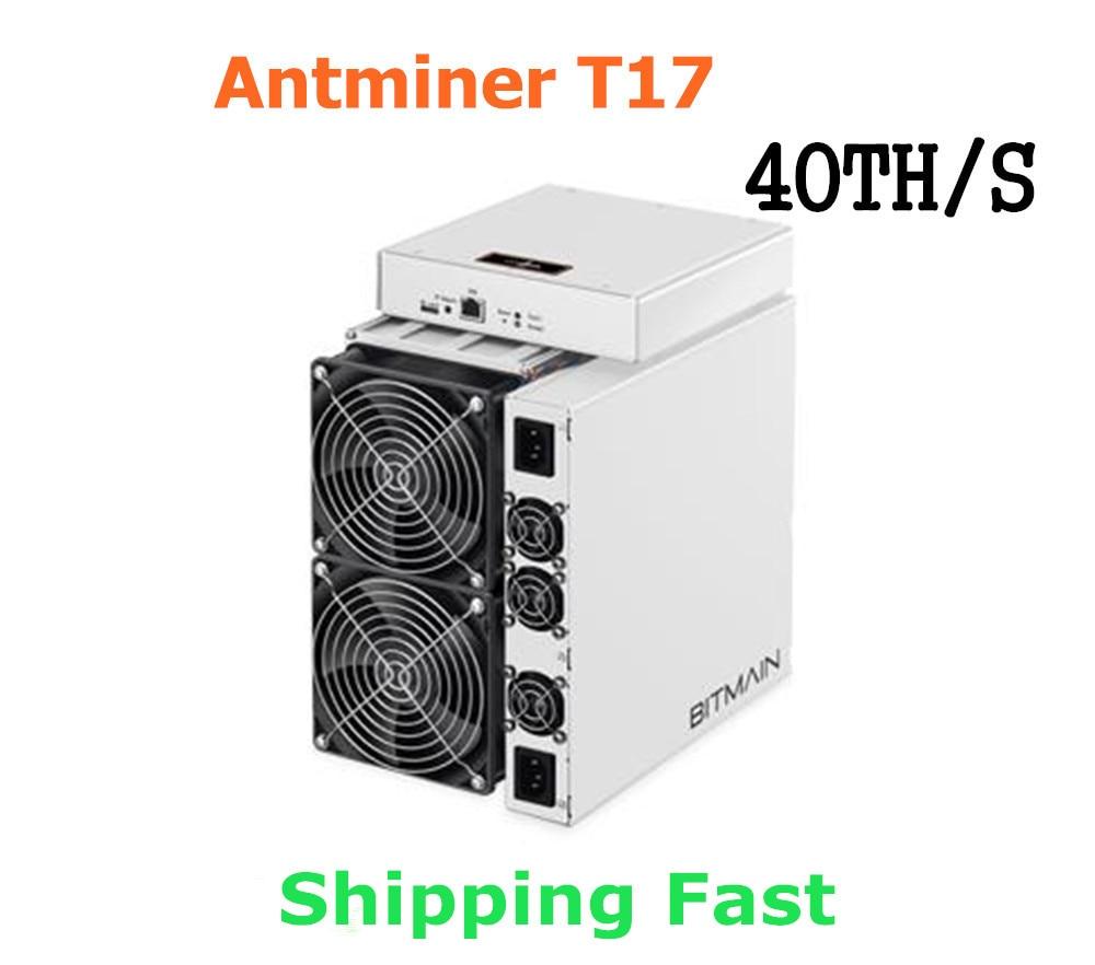 BITAMAIN plus récent BTC BCH mineur AntMiner T17 40TH/S avec PSU mieux que S17 Pro T17e S17e S15 S11 S9 T15 what sminer M3X M21S M20S