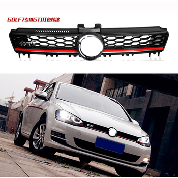 цена на High Quality ABS Front Grille Center Grill Honeycomb Meshed Fit for Volkswagen VW Golf 7 MK7 2014 2015 2016