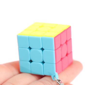 Mini 3rd Order brelok magiczna kostka prędkość kostka łamigłówka edukacyjna zabawka dla dzieci dzieci tanie i dobre opinie CN (pochodzenie) 4-6y 12 + y 7-12y Z tworzywa sztucznego